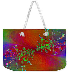 Weekender Tote Bag featuring the digital art Abstract Cubed 371 by Tim Allen