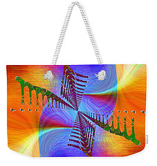 Weekender Tote Bag featuring the digital art Abstract Cubed 372 by Tim Allen
