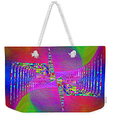 Weekender Tote Bag featuring the digital art Abstract Cubed 373 by Tim Allen