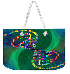 Weekender Tote Bag featuring the digital art Abstract Cubed 374 by Tim Allen