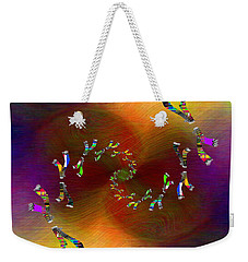 Weekender Tote Bag featuring the digital art Abstract Cubed 375 by Tim Allen