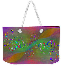 Weekender Tote Bag featuring the digital art Abstract Cubed 376 by Tim Allen