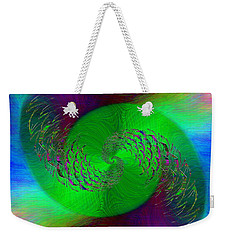 Weekender Tote Bag featuring the digital art Abstract Cubed 378 by Tim Allen