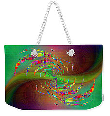 Weekender Tote Bag featuring the digital art Abstract Cubed 379 by Tim Allen