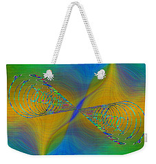 Weekender Tote Bag featuring the digital art Abstract Cubed 380 by Tim Allen