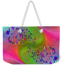 Weekender Tote Bag featuring the digital art Abstract Cubed 381 by Tim Allen