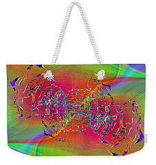 Weekender Tote Bag featuring the digital art Abstract Cubed 382 by Tim Allen