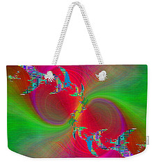 Weekender Tote Bag featuring the digital art Abstract Cubed 383 by Tim Allen
