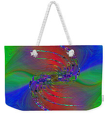 Weekender Tote Bag featuring the digital art Abstract Cubed 384 by Tim Allen
