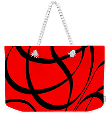 Abstract Design In Red And Black Weekender Tote Bag