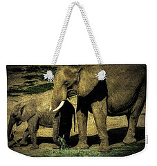 Abstract Elephants 23 Weekender Tote Bag