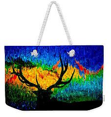 Abstract Elk Scenic View Weekender Tote Bag