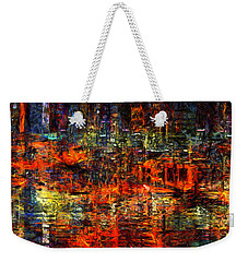Abstract Evening Weekender Tote Bag
