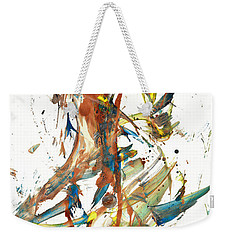 Weekender Tote Bag featuring the painting Abstract Expressionism Painting Series 1039.050812 by Kris Haas
