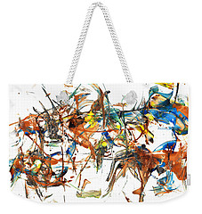 Weekender Tote Bag featuring the painting Abstract Expressionism Painting Series 1041.050812 by Kris Haas