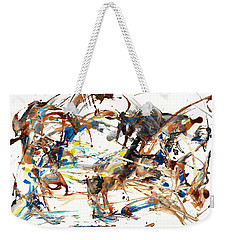 Weekender Tote Bag featuring the painting Abstract Expressionism Painting Series 1042.050812 by Kris Haas