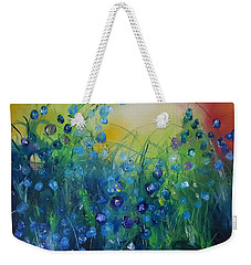 Abstract Flax           31 Weekender Tote Bag