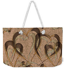 Abstract Floating Hearts Weekender Tote Bag