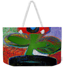 Abstract Floral Art 105 Weekender Tote Bag