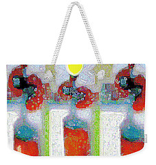Abstract Floral Art 209 Weekender Tote Bag