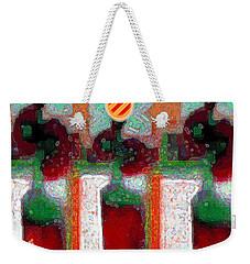 Abstract Floral Art 211 Weekender Tote Bag