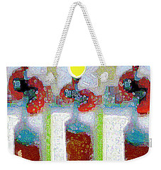 Abstract Floral Art 217 Weekender Tote Bag