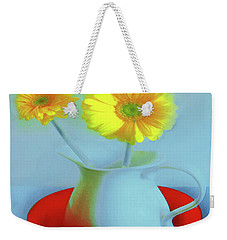 Abstract Floral Art 268 Weekender Tote Bag