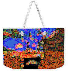 Abstract Floral Art 77 Weekender Tote Bag