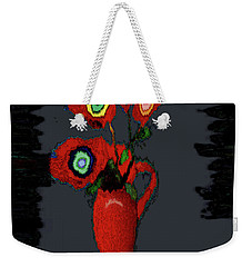 Abstract Floral Art 91 Weekender Tote Bag