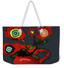 Abstract Floral Art 95 Weekender Tote Bag