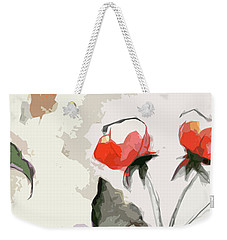 Abstract Floral Art Pink Blossoms 2 Weekender Tote Bag