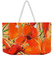 Abstract Floral Two Weekender Tote Bag