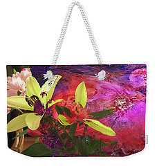 Abstract Flowers Of Light Series #16 Weekender Tote Bag