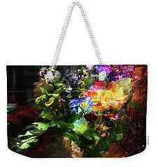 Abstract Flowers Of Light Series #17 Weekender Tote Bag