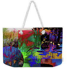 Abstract Flowers Of Light Series #21 Weekender Tote Bag