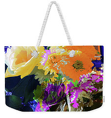 Abstract Flowers Of Light Series #7 Weekender Tote Bag