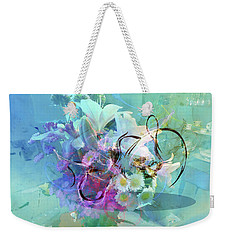 Abstract Flowers Of Light Series #9 Weekender Tote Bag