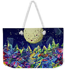 Abstract Forest Weekender Tote Bag by Bekim Art