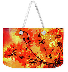 Abstract Forsythia Flowers Weekender Tote Bag