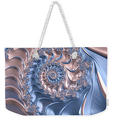Abstract Fractal Art Rose Quartz And Serenity  Weekender Tote Bag