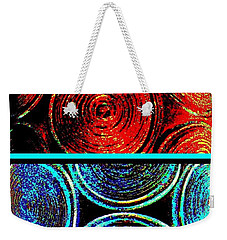 Weekender Tote Bag featuring the digital art Abstract Fusion 275 by Will Borden