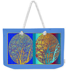 Weekender Tote Bag featuring the digital art Abstract Fusion 276 by Will Borden