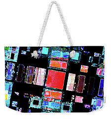 Weekender Tote Bag featuring the digital art Abstract Geometric Art by Phil Perkins