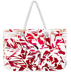 Abstract Geranium Weekender Tote Bag