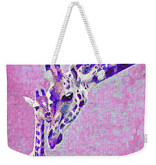 Abstract Giraffes2 Weekender Tote Bag by Jane Schnetlage