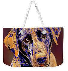 Abstract Golden Labrador Retriever Painting Weekender Tote Bag