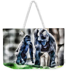 Abstract Gorilla Family Weekender Tote Bag