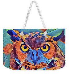Abstract Great Horned Owl Weekender Tote Bag