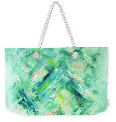 Abstract Green Blue Weekender Tote Bag