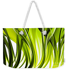 Abstract Green Grass Look Weekender Tote Bag